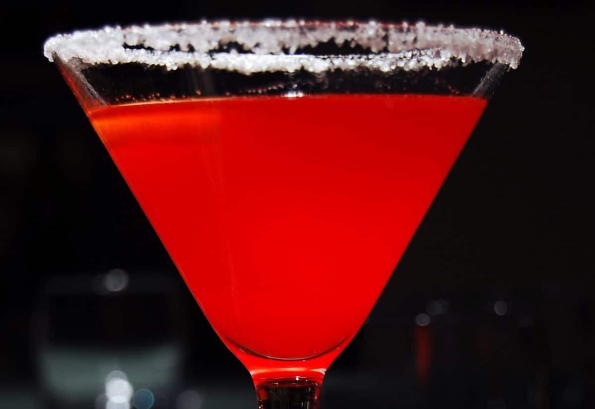 bebida Cosmopolitan no alcohol